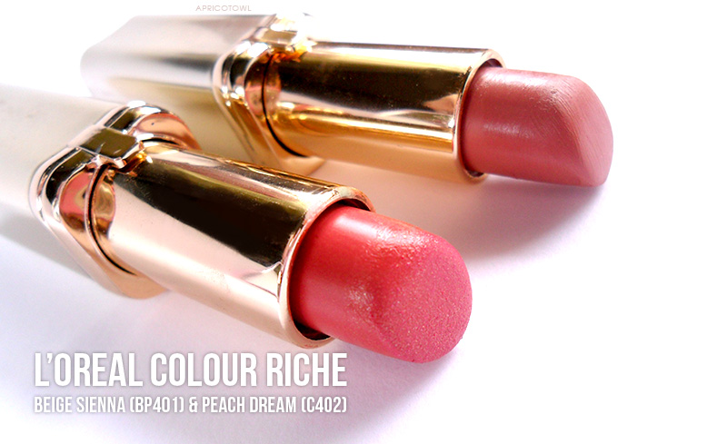 loreal colour riche lipstick beige sienna peach dream review