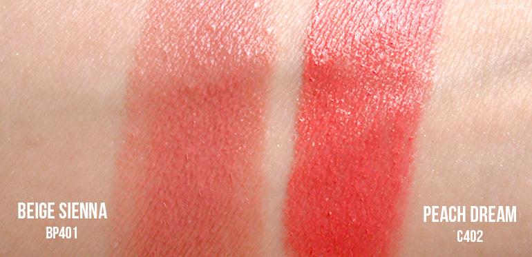 loreal colour riche lipstick beige sienna peach dream