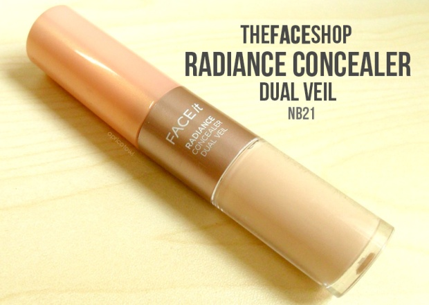 the face shop radiance concealer dual veil