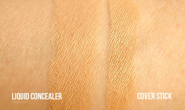 the face shop radiance concealer dual veil swatches