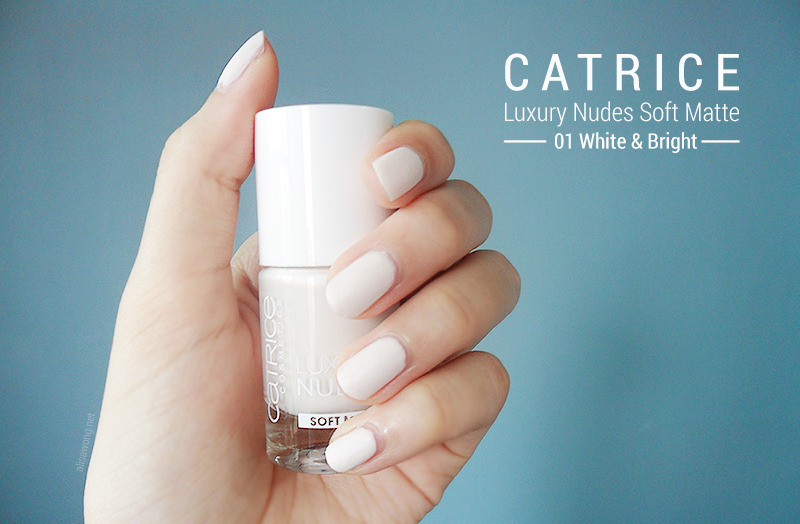 Catrice Luxury Nudes Soft Matte White and Bright Swatch