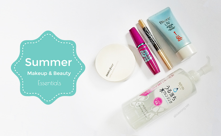 Summer Makeup Beauty Essentials Biore Maybelline Innisfree Bifesta