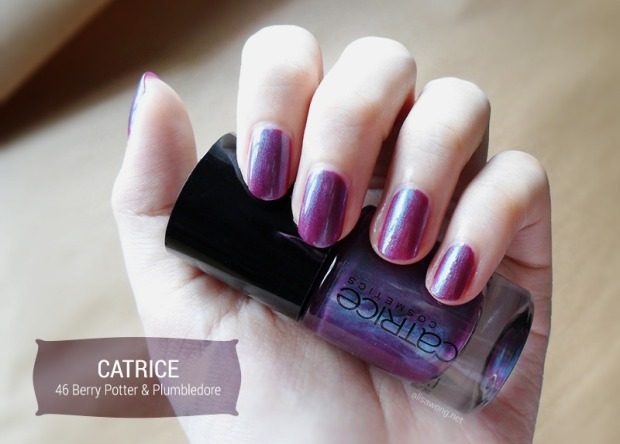 catrice berry potter and plumbledore nail polish swatch